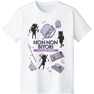 のんのんびより のんすとっぷ 宮内れんげ Ani-Sketch Tシャツ レディース L