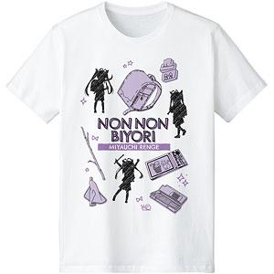 のんのんびより のんすとっぷ 宮内れんげ Ani-Sketch Tシャツ レディース XL