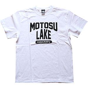 ゆるキャン△ MOTOSU LAKE Tシャツ ホワイト M