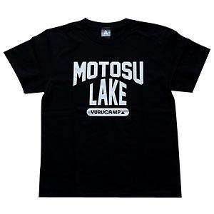 ゆるキャン△ MOTOSU LAKE Tシャツ ブラック M