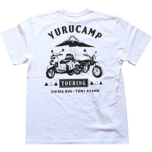 ゆるキャン△ TOURING Tシャツ ホワイト L