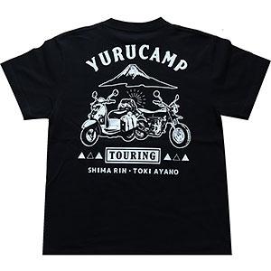 ゆるキャン△ TOURING Tシャツ ブラック XL