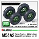 1/35 U.S. M54A2 Cargo Sagged Front Wheel (2) Military Pattern (For AFV Club)